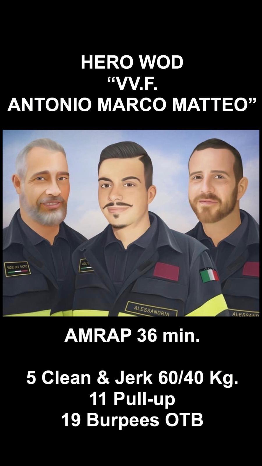"HERO WOD ""VV.F ANTONIO MARCO MATTEO"""
