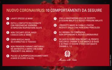 NUOVO CORONA VIRUS – 10 COMPORTAMENTI DA SEGUIRE e BUONE PRASSI come da circ.FMSI