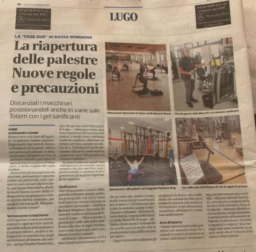 Corriere Romagna – 26 maggio – La riapertura delle Palestra