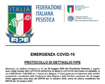 Emergenza COVID-19 dpcm 13-18 ottobre: PROTOCOLLO DI DETTAGLIO FIPE -> RMG